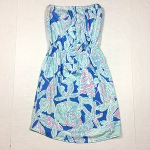Lilly Pulitzer Strapless Windsor Dress Into Deep